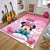 XuJinzisa Alfombra De Mickey Minnie Mouse, Alfombra con Estampado...