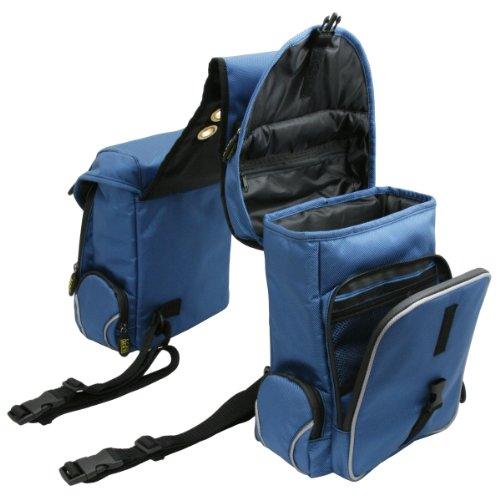 Trailmax 500 - Alforjas traseras - Equipaje para silla vaquera de cowboy - Azul