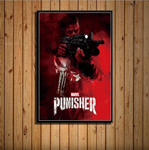 zpbzambm Cuadro En Lienzo 40X50Cm Sin Marco,The Punisher Netflix TV Series Art Show Seda Pintura sobre Lienzo Cartel De La Pared Decoración para El Hogar Zp-1832