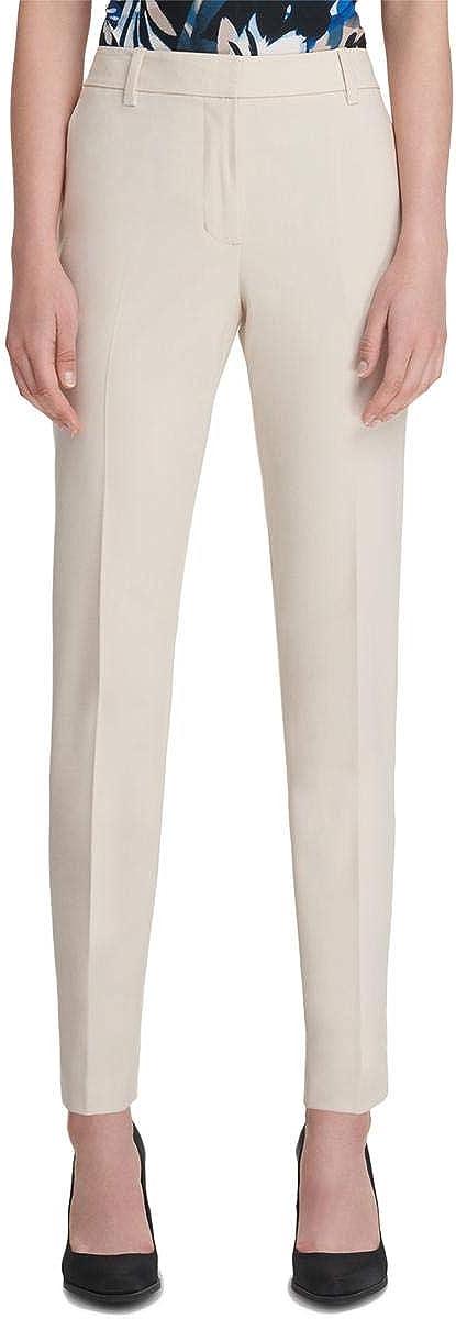 DKNY Womens Essex Casual Trouser Pants, Beige, 0
