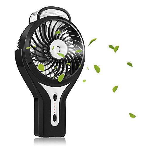TIanNorth® Mini USB Handheld Humidificador Mist Spray de agua Aire acondicionado Ventilador humectante Portable Face Spray Mist Humidificador Misting Fan (Negro)