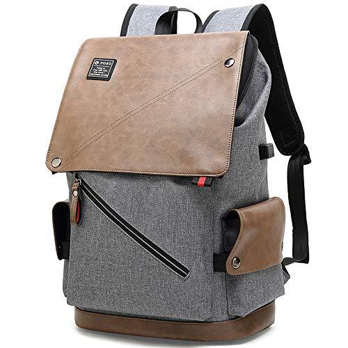 Laptoptas, reistas, schoudertas, grote capaciteit, USB, voor heren, outdoor-PS-681 khaki-15,6 inch