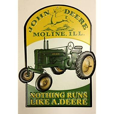 John Deere Nothing Runs Like a Deere Tin Sign 8 x 10in