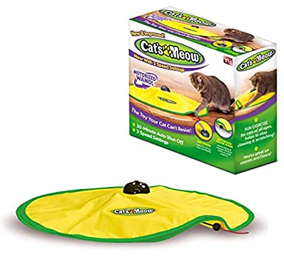 Cat's Meow- Motorized Wand Cat Toy, Automatic 30 Minute Shut Off, 3 Speed Settings, The Toy Your Cat Can't Resist by Allstar Innovations