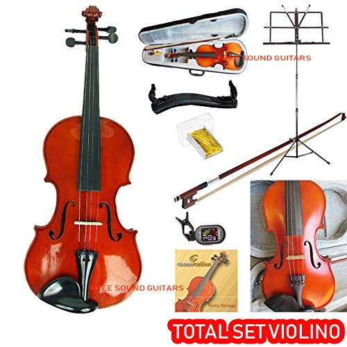 VIOLINO VOX MEISTER 4/4 completo di Archetto Astuccio Pece Spalliera Corde Accordatore Leggio