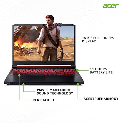 Acer Nitro 5 Intel i5-9th Gen 15.6-inch Display 1920 x 1080 Thin and Light Gaming Laptop (8GB Ram+16GB Optane/1TB HDD/Windows 10 Home/GTX 1650 Graphics/Obsidian Black/2.3 Kgs), AN515-54