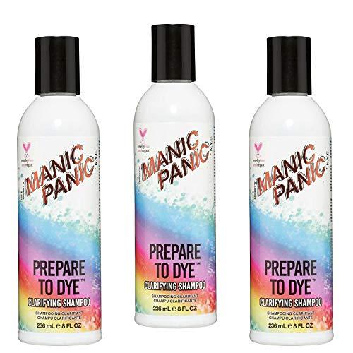Manic Panic - Prepare To Dye Clarifying Shampoo Vegan Cruelty Free Shampoo - 3 x 236ml