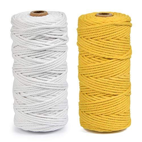 10 M 2 mm Cable de cáñamo natural-negro-gris-marrón amarillento