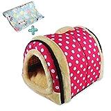 ANPI 2 en 1 Niches & Maison d'Animal Familier, Antidérapant Pliable Doux Chaud Chien Chat Chiot Lapin Pet Nid Grotte Maison Lit...