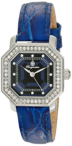Burgmeister Armbanduhr für Damen mit Analog Anzeige, Quarz-Uhr und Lederarmband - Wasserdichte Damenuhr mit zeitlosem, schickem Design - klassische, elegante Uhr für Frauen - BM168-133 Allinges