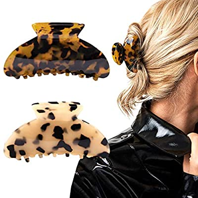 Hair Claw Banana Clips tortoise Barrettes Celluloid French Design Barrettes celluloid Leopard print Large Fashion Accessories for Women Girls