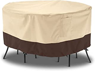 Arcedo Patio Furniture Covers, Round Waterproof Patio Table and Chair Covers, Heavy Duty Small Outdoor Furniture Covers, A...