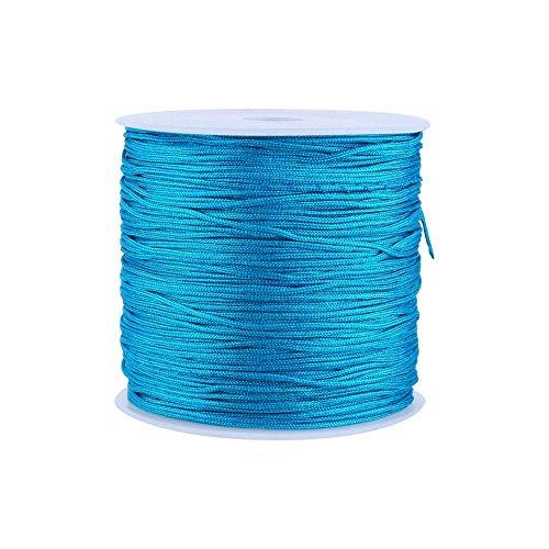 20 colores 100M x 0.8mm Rattail Satén Nylon Trim Cord Nudo Chino para Collar Pulsera Abalorios