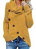 GOSOPIN Damen Pullover lose Pullis Langarm Oberteil Rollkragen Outwear S-XXL, #5, S