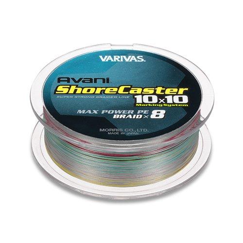 VARIVAS(バリバス) PEライン アバニ ショアキャスター 10×10 マックスパワー 200m 1.5号 MAX24.1lb ステルスグレーベースのマーキングライン
