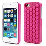 GIZEE Funny Cute Popping Decompression Bubble Wrap Back Soft Silicone Puchi Puchi Case Cover for iPhone 5 5s SE (Pink)