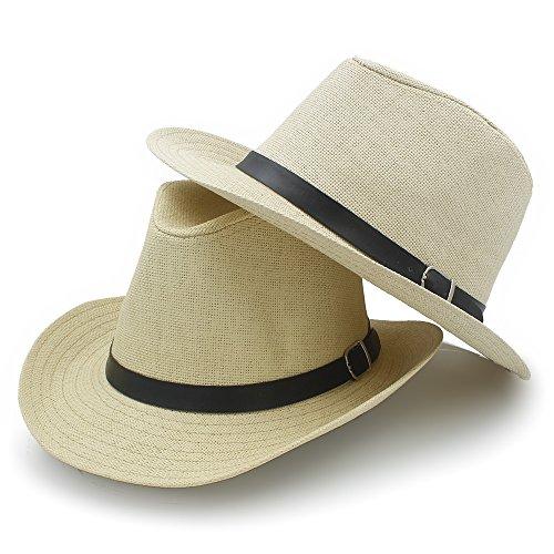 Grupo de Disfraces de Halloween Playa del sombrero de vaquero hombres de las mujeres occidentales de paja Sombrero de vaquero sombreros del verano del sombrero de Sun ( Color : Negro , tamaño : 58cm )