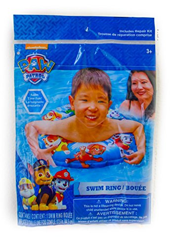 Paw Patrol Pool Swim Floats Swing Ring and Beach Ball Bundle