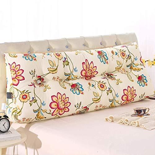 Dongy Triángulo de Noche Cojín Cama Tatami cojín Grande Volver cojín del sofá de la Cintura Almohada extraíble y Lavable (Color : D, Size : 120cm)