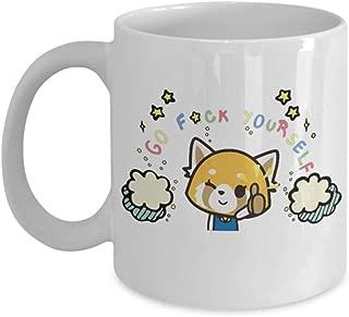 Go Fuck Yourself, Aggretsuko Anime Coffee Mugs, aggressive retsuko, retsuko, netflix, protein, red panda, karaoke, death metal, metal, japan, office,