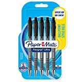 Paper Mate 2027751 Flexgrip Ultra Lot de 5 Stylos bille rétractable pointe moyenne 1,0 mm Noir