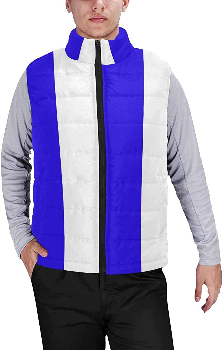 InterestPrint Winter Outwear Casual Padded Vest Coats for Men Dreamcatcher, Feathers and Beads