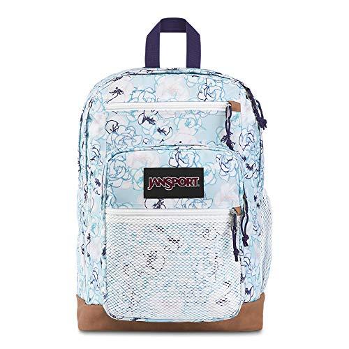 JanSport Huntington Backpack - Lightweight Laptop Bag | Blue Sketch Floral