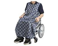 特殊衣料 食事前掛 超はっ水 車椅子用 和柄うさぎ うぐいす