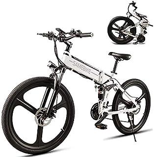 Bicicleta eléctrica,bicicleta de montaña plegable de 26 pulgadas ...