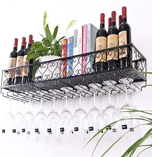LZQBD Botelleros, Soporte de Pared de Metal   Soporte para Copa de Vino Colgante   Porta Botellas de Vino Vintage   Armario para Vino con Soporte para Vino Montado en la Pared Rústico   Estante Organ