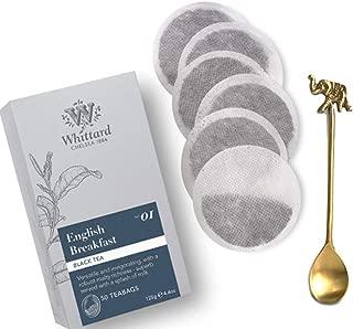 Whittard English Breakfast Tea Bags with a beautiful Handmade Tea Spoon. All carefully pack.