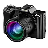 Digital Camera Vlogging Camera 48MP 4K AiTechny Video Camera Camcorder 16X Digital Zoom WiFi YouTube Camera 3.5' IPS Touch Screen Camera with Wide Angle Lens