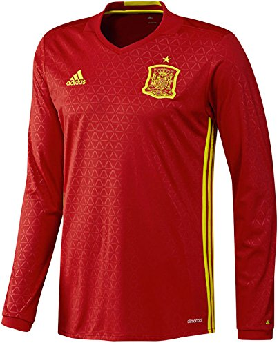 adidas Spain Home Euro 16 L/S Jersey (M) Red/Yellow