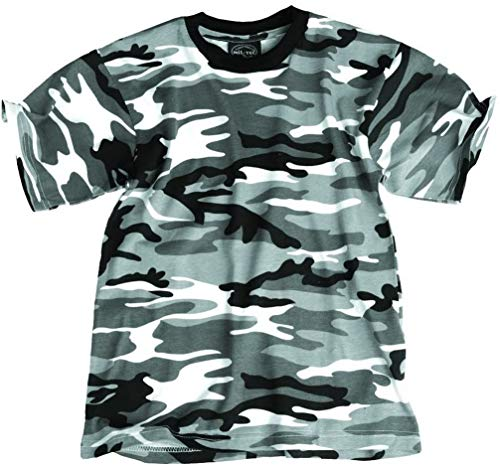Mil-Tec Entfants T-Shirt camouflage us style qualité legér (Urban/XS)