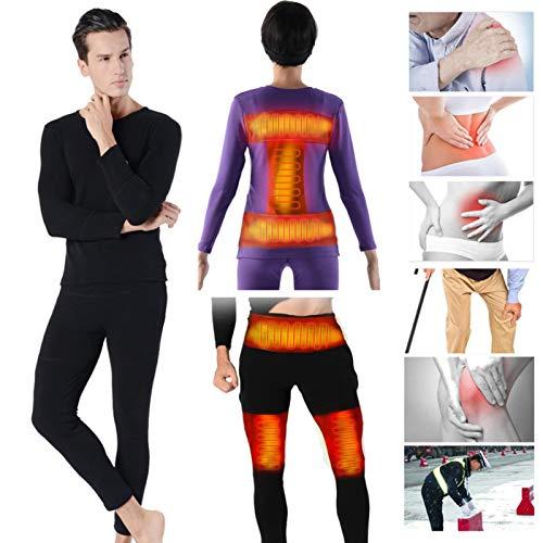 cheerfulus Isolierte Heizung Unterwäsche Wiederaufladbar, Einstellbare aufladbare beheizte Hose, elastische beheizte Hose für Männer und Frauen