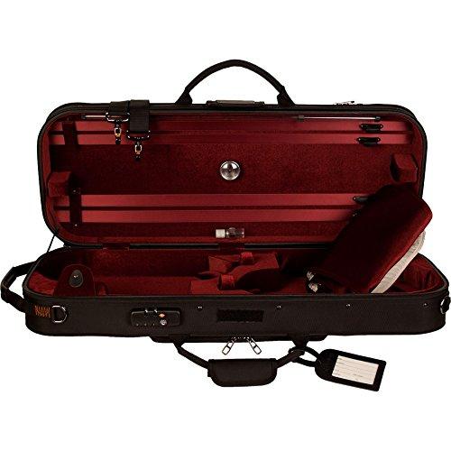 Protec Double Professional 4/4 Violin PRO PAC Case (Wine Interior) - Black