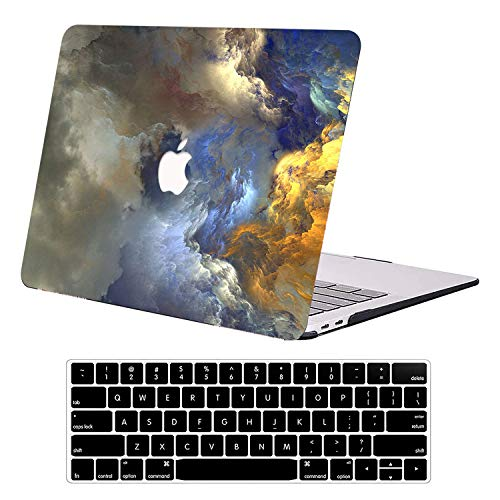 AUSMIX MacBook Air 13 Inch Case 2020 2019 2018 Version A1932 A2179 A2337 M1,Rubber Matte Plastic Hard Shell Cover Case with Keyboard Cover for MacBook Air 13 with Retina Display and Touch ID- Rock