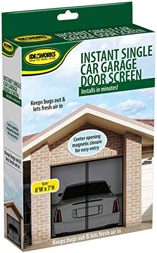 Jobar Single Garage Screen Door - Mesh Allows Air Circulation - Prevents Bugs and Insects from Entering - Black