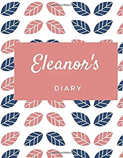 Eleanor's Diary: Personalised Journal large Notebook with Pink Hearts, Girl Names/Initials 8x11, Journals to Write in for ...