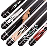 AB Earth Set of 6 Pool Cues 58 Inches House Bar Billiard Stick