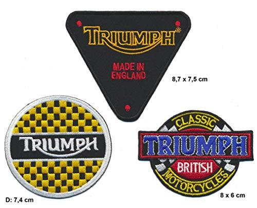 Parches de Carreras Classics Triumph, 3 Unidades, para Moto, Moto, Inglaterra, Isla de Man TT Race