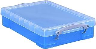 Really Use Box 4tbb Lot 4L, bleu transparent