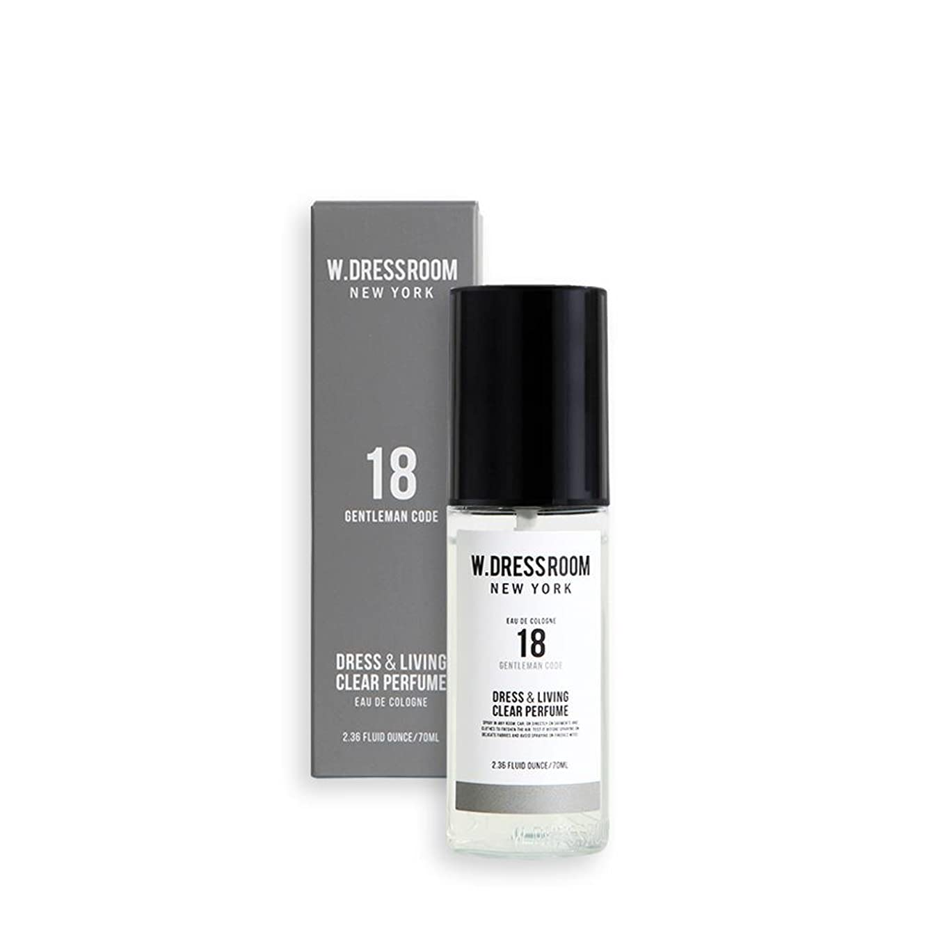 敬の念ミント散歩W.DRESSROOM Dress & Living Clear Perfume fragrance 70ml (#No.18 Gentleman Code)/ダブルドレスルーム ドレス&リビング クリア パフューム 70ml (#No.18 Gentleman Code)