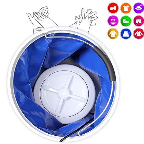 Portable Folding Emmer Wasmachine Kleine slaapzaal Student Sokken Ondergoed gevoerd Zonder Ultrasone Turbine mini wasmachine met draaiende wasmachine met Rotating Type