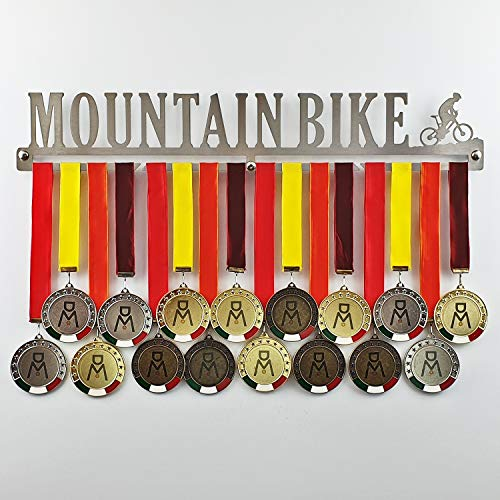 Mountain Bike - Medal Hanger for MTB, Bicycle - Medal Show Wall Mounted - Medal Display Rack - Trophy Holder (450 mm x 80 mm x 3 mm)