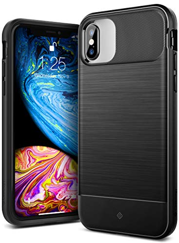 Caseology Vault for iPhone Xs Case (2018) / iPhone X Case (2017) - Rugged Matte Finish - Black
