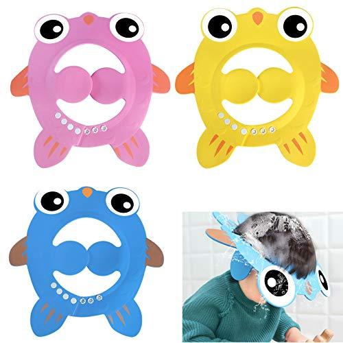 3 Stück Baby Shampoo Cap,Baby Shampoo Schutz,Shampoo Schutz für Kinder,Haar waschen ohne Tränen,Shampooaugenschutz,Einstellbare Baby Duschhaube