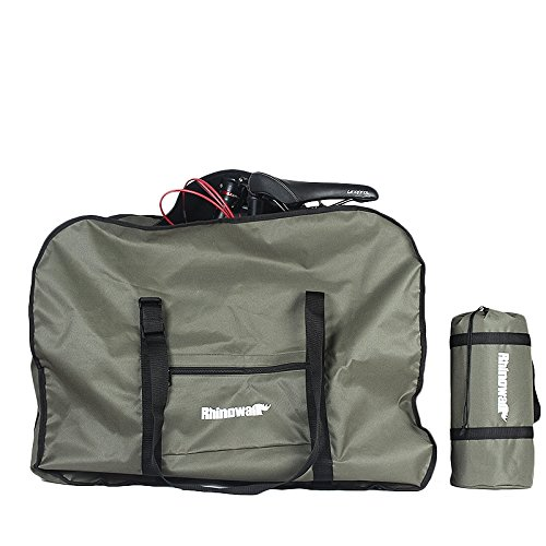 Rhinowalk 20 Inch Folding Bike Bag,(Waterproof Bicycle Travel Case Outdoors Bike Transport Bag for Cars Train Air Travel)