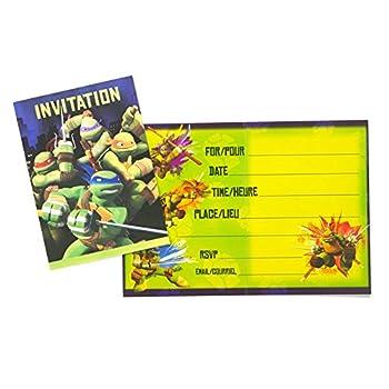Teenage Mutant Ninja Turtles Invitations