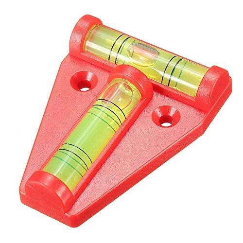 Mehrzweck-Wasserwaage, nicht magnetisch, 2-Wege-Wasserwaage, T-Typ-Wasserwaage, Rot